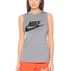 NWT NIKE Gray Sportswear Essential Muscle Top